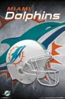 Miami Dolphins Helmet NFL Poster