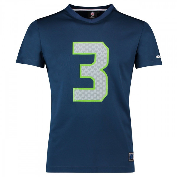 Russell Wilson #3 Seattle Seahawks Player NFL Mesh T-Shirt