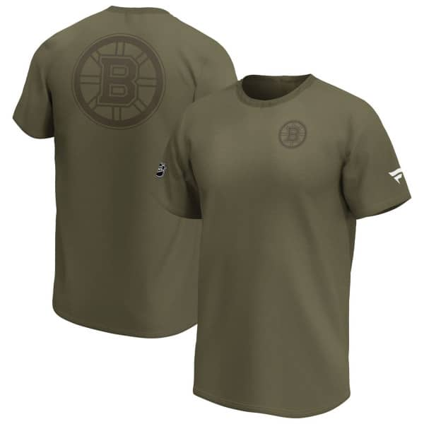 Boston Bruins Fanatics Camo Khaki NHL T-Shirt