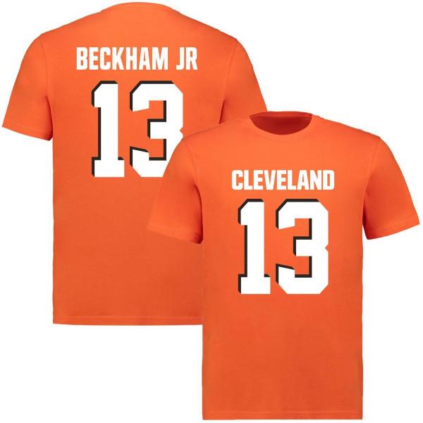 Odell Beckham Jr. #13 Cleveland Browns Player NFL T-Shirt Orange