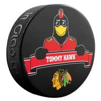 Chicago Blackhawks Tommy Hawk Mascot NHL Souvenir Puck