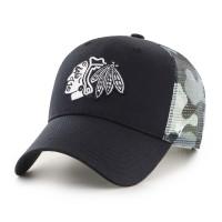 Chicago Blackhawks White Camo Back Switch '47 MVP NHL Trucker Cap