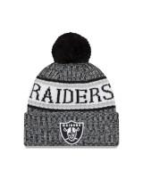 Oakland Raiders Black 2018 Sideline Sport Knit NFL Wintermütze