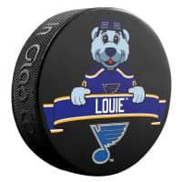 St. Louis Blues Louie Mascot NHL Souvenir Puck