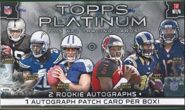 2015 Topps Platinum Football Hobby Box NFL
