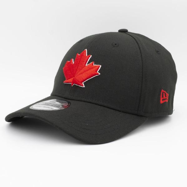 Toronto Blue Jays Black Leaf MLB New Era 39THIRTY Flex Cap