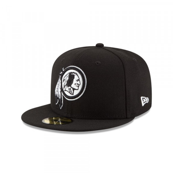 Washington Redskins Black & White 59FIFTY Fitted NFL Cap