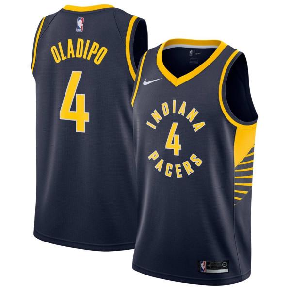 Victor Oladipo #4 Indiana Pacers Icon Swingman NBA Trikot Navy