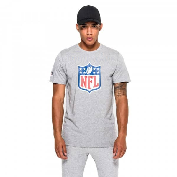 NFL Shield Team Logo New Era NFL T-Shirt Grau