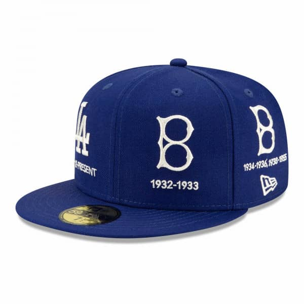 Los Angeles Dodgers Cooperstown Logo Progression New Era 59FIFTY Fitted MLB Cap