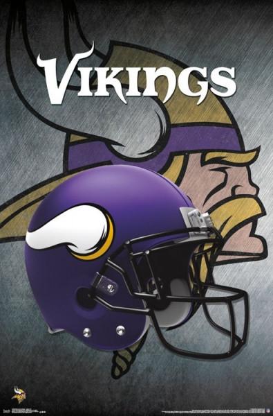 Minnesota Vikings Helmet Football NFL Poster