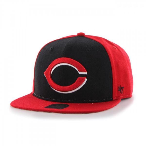 Cincinnati Reds Colored Front Panel Snapback MLB Cap