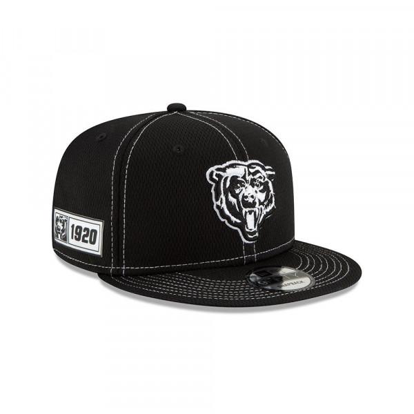 Chicago Bears Throwback 2019 NFL Sideline Black 9FIFTY Snapback Cap Road