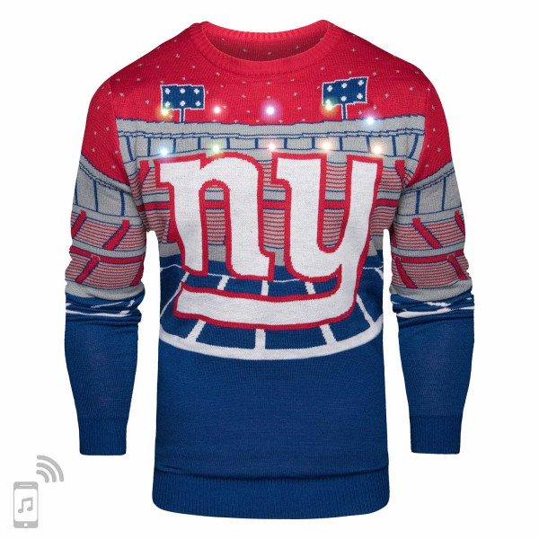 New York Giants Light Up Bluetooth NFL Ugly Holiday Sweater