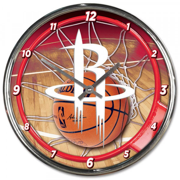 Houston Rockets Chrome NBA Wanduhr