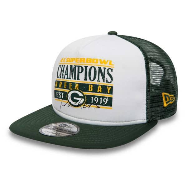 Green Bay Packers Champs 9FIFTY NFL Trucker Snapback Cap