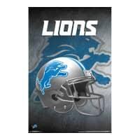 Detroit Lions Helmet Football NFL Poster