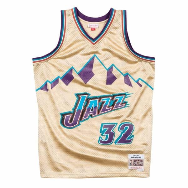 Karl Malone #32 Utah Jazz 1996-97 Gold Collection Swingman NBA Trikot