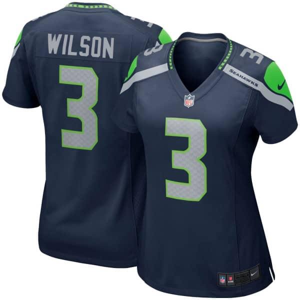 Russell Wilson #3 Seattle Seahawks Nike Game NFL Trikot Navy (DAMEN)