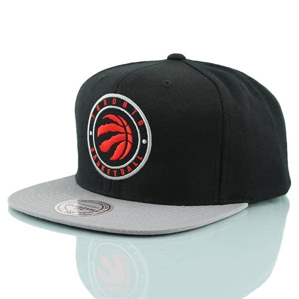 ca681e69838 Mitchell   Ness Toronto Raptors Circle Patch Snapback NBA Cap ...