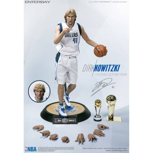 1:6 Real Masterpiece Dirk Nowitzki Dallas Mavericks Figur