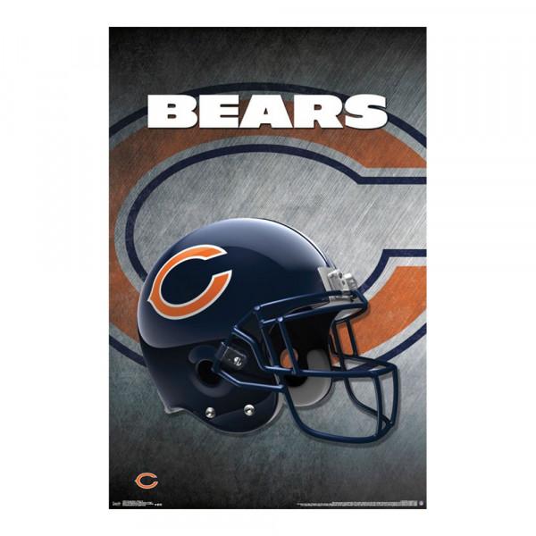 Chicago Bears Helmet Football NFL Poster