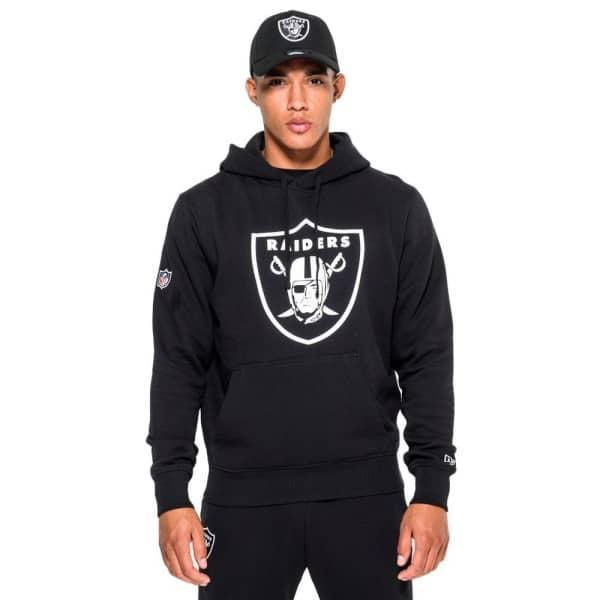 Las Vegas Raiders Logo Hoodie NFL Sweatshirt Schwarz