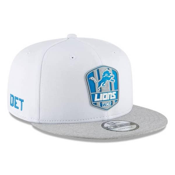 Detroit Lions 2018 NFL Sideline 9FIFTY Snapback Cap Road