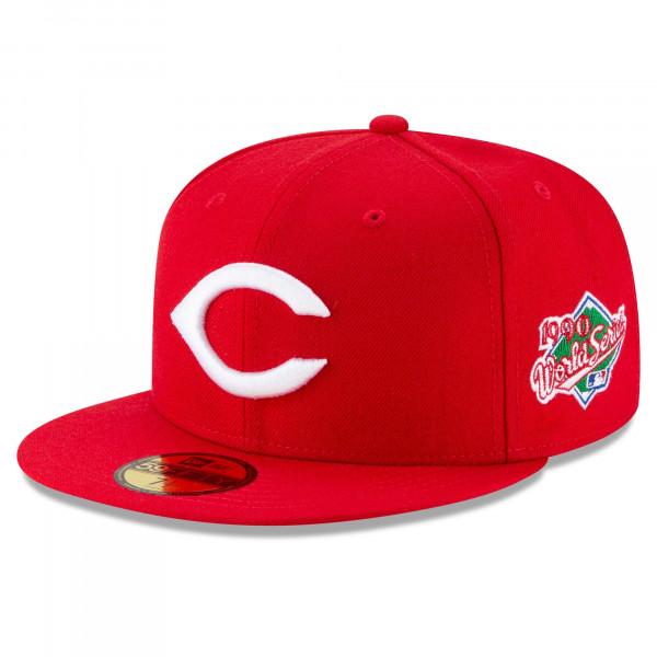 Cincinnati Reds 1990 World Series Cooperstown New Era 59FIFTY Fitted MLB Cap