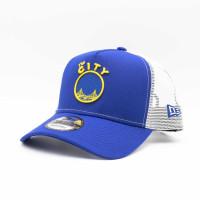 Golden State Warriors 2021 NBA Hardwood Classic Nights New Era 9FORTY Trucker Cap
