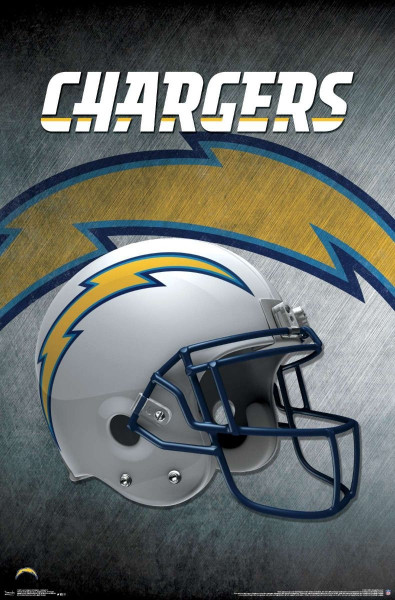 Los Angeles Chargers Helmet NFL Poster