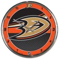 Anaheim Ducks Chrome NHL Wanduhr