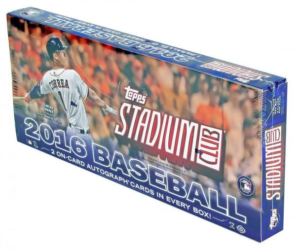 2016 Topps Stadium Club Baseball Hobby Box