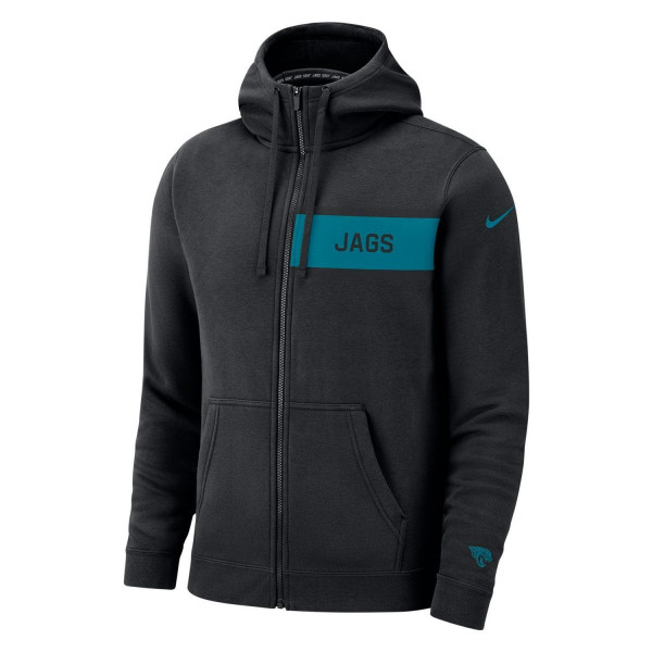 bfcafb23 Nike Jacksonville Jaguars Club Full-Zip NFL Hoodie Black | TAASS.com Fan  Shop