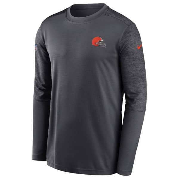 Cleveland Browns Nike 2020 NFL On-Field Coach Training Long Sleeve Shirt