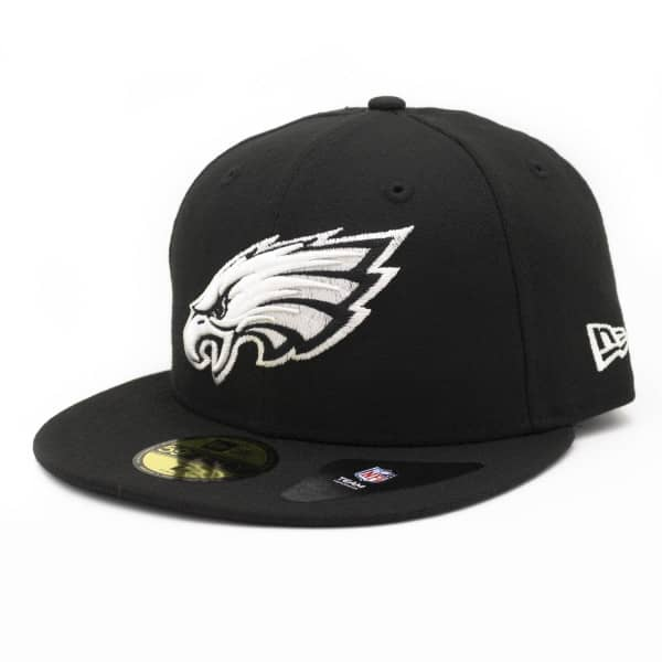 Philadelphia Eagles Black & White 59FIFTY Fitted NFL Cap