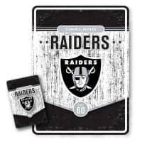 Las Vegas Raiders Throwback NFL Metallschild & Magnet Set
