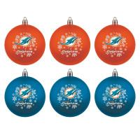 Miami Dolphins NFL Weihnachtskugeln Geschenk-Set (6-Teilig)
