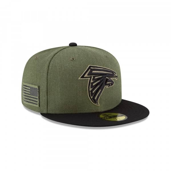 buy online 3a916 4b8e3 New Era Atlanta Falcons 2018 Salute to Service 59FIFTY NFL Cap   TAASS.com  Fan Shop