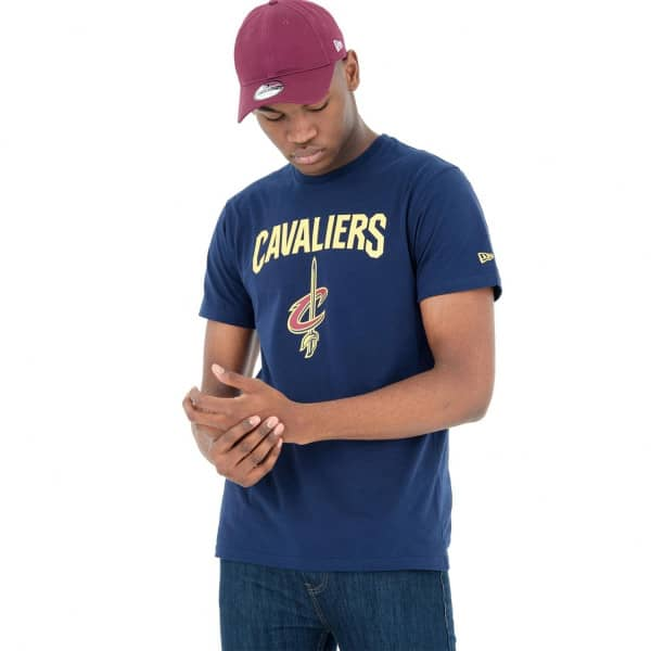 buy popular a790c d8d9c New Era Cleveland Cavaliers Team Logo NBA T-Shirt Navy   TAASS.com Fan Shop