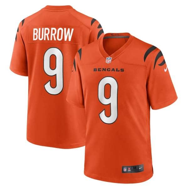 Joe Burrow #9 Cincinnati Bengals Nike Game NFL Trikot Alternate Orange