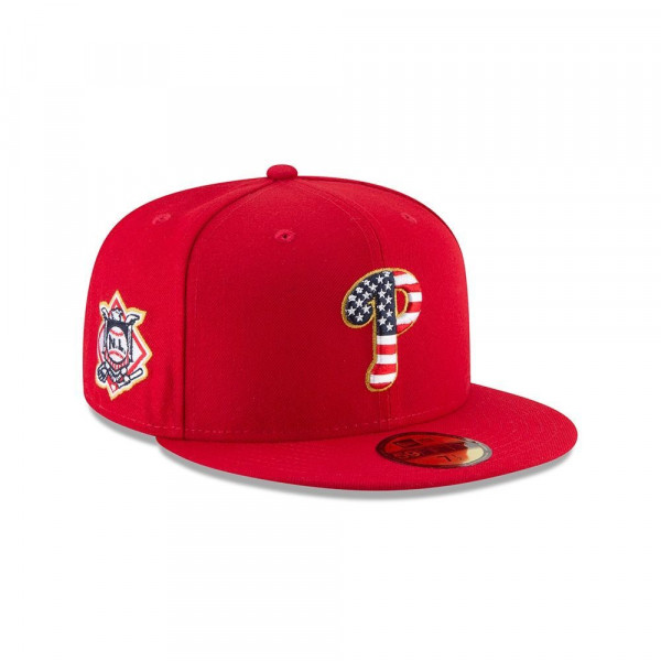 1724917593c56 New Era Philadelphia Phillies 4th of July 2018 59FIFTY Fitted MLB Cap