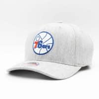 Philadelphia 76ers Heather Mitchell & Ness Classic Red Stretch Snapback NBA Cap