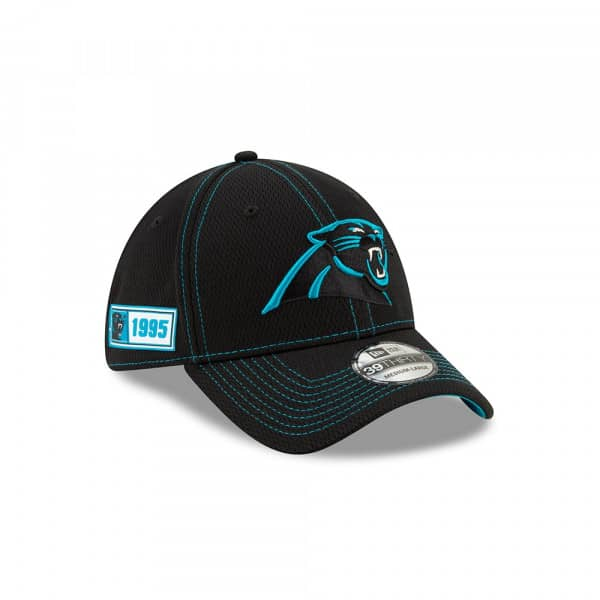 Carolina Panthers 2019 NFL On-Field Sideline 39THIRTY Stretch Cap Road