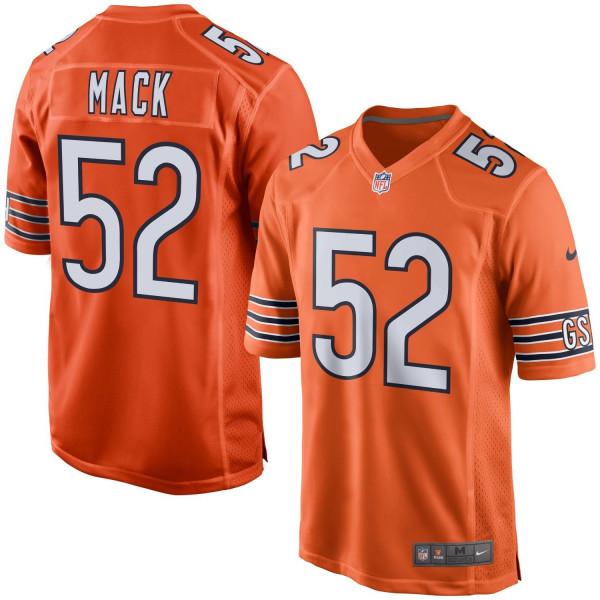 Khalil Mack #52 Chicago Bears Nike Game NFL Trikot Alternate Orange