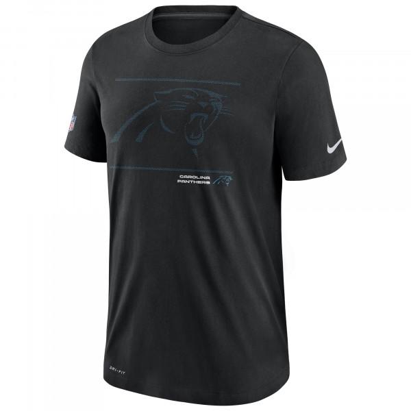 Carolina Panthers 2021 NFL Sideline Team Issue Nike T-Shirt Schwarz