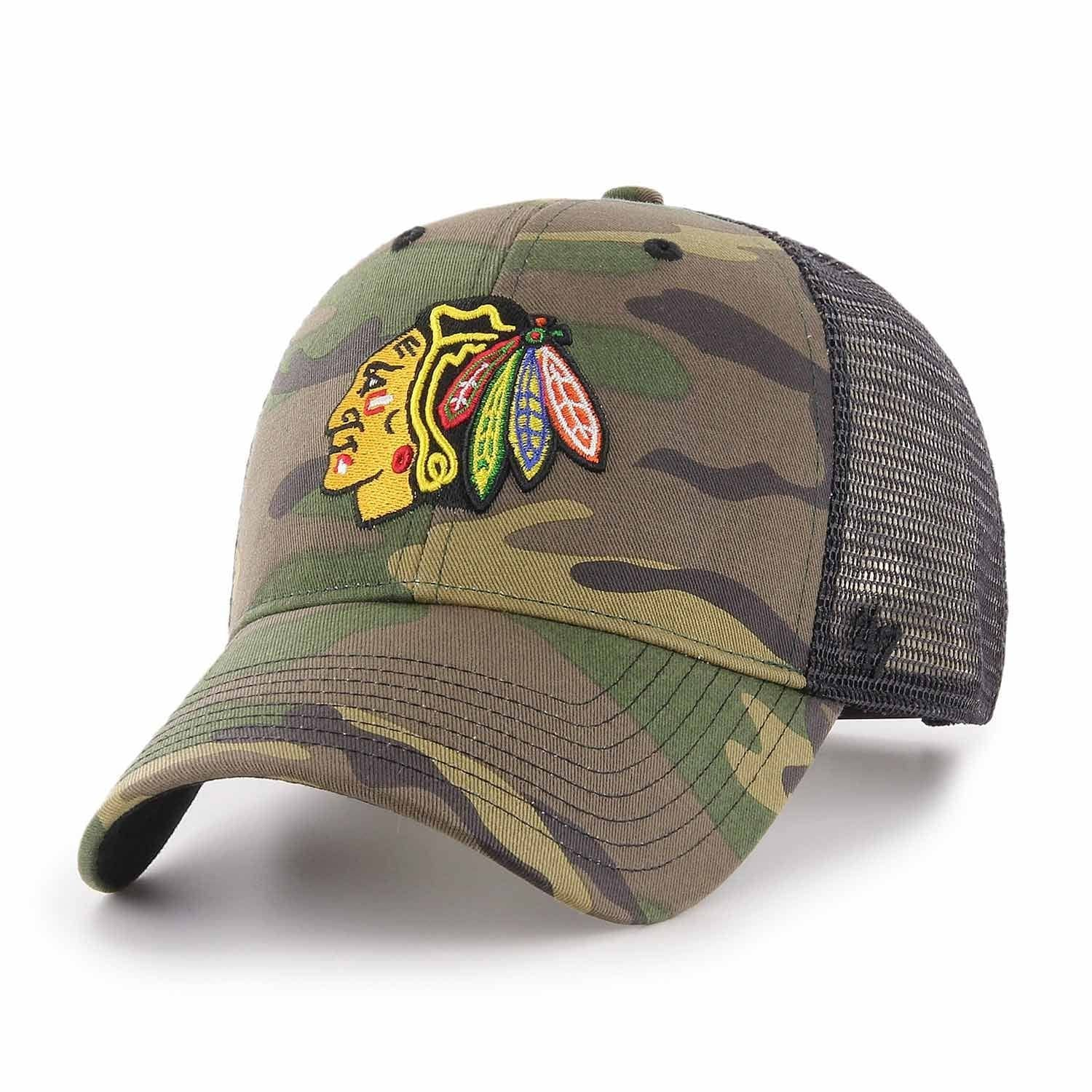 b76d4398b6698  47 Brand Chicago Blackhawks CAMO Branson NHL Trucker Cap