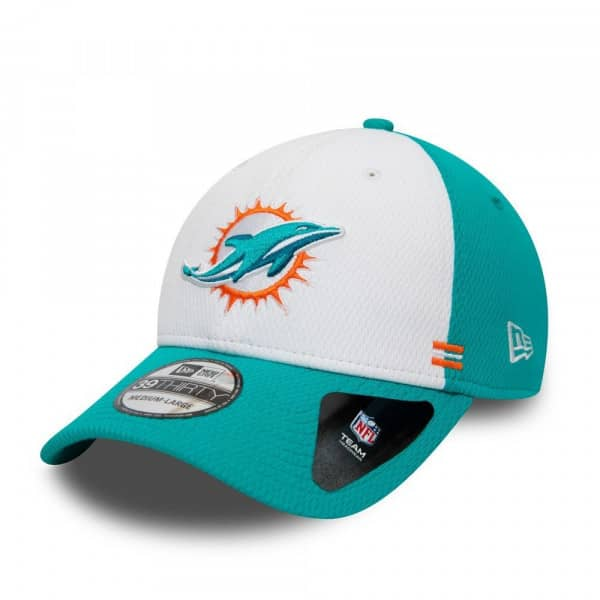 Miami Dolphins Unofficial 2020 NFL Sideline New Era 39THIRTY Flex Cap Home