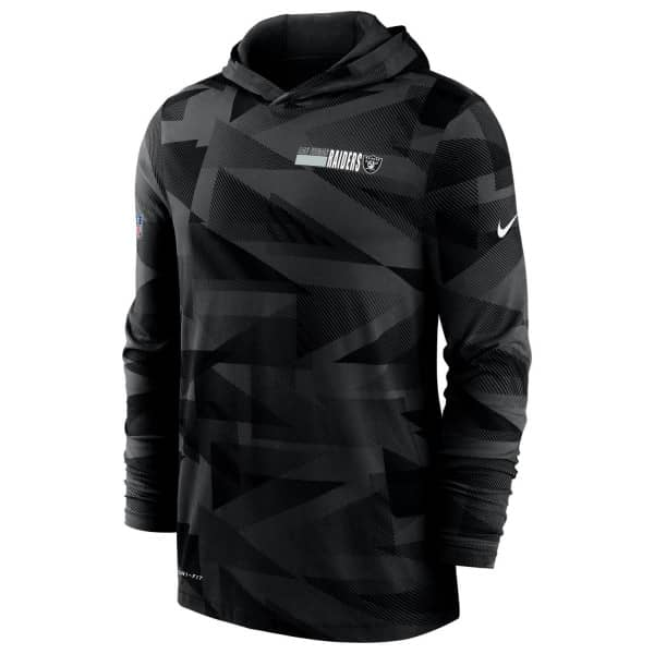 Las Vegas Raiders 2020 NFL Sideline Long Sleeve Nike Lightweight Hoodie