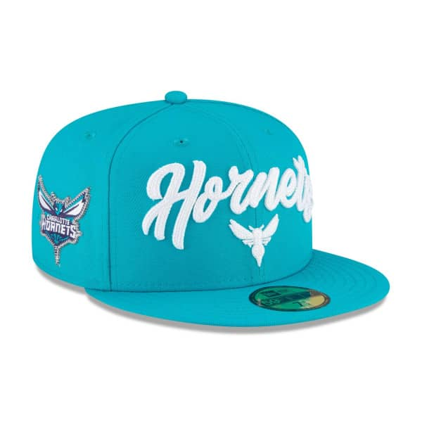 Charlotte Hornets Alternate Authentic 2020 NBA Draft New Era 59FIFTY Fitted Cap
